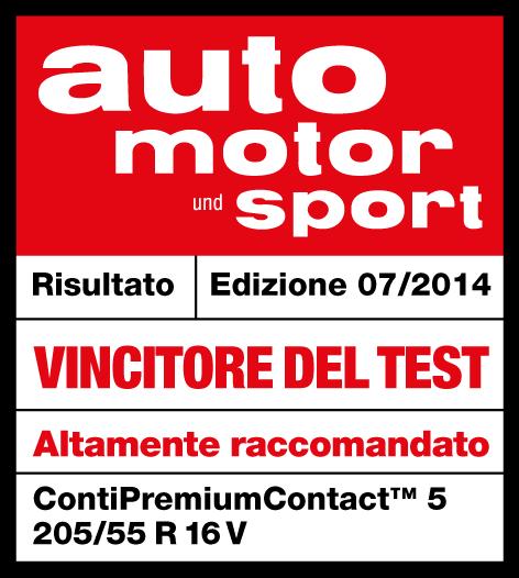 Pneumatici Continental ContiPremiumContact5 test automotorsport 2014